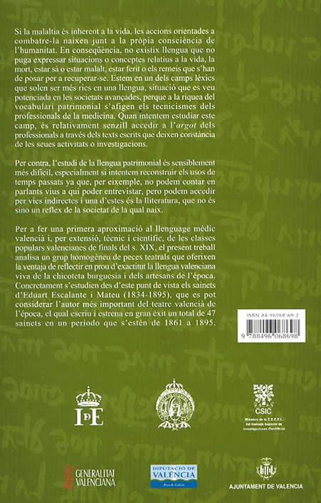 Contraportada Lexic èdic valencià s.XIX